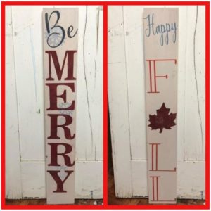 Seasonal Wood Sign Class @ Kim Hannahs Shop