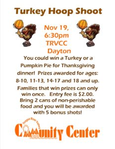 Turkey Hoop Shoot @ TRVCC Dayton