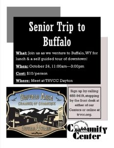 Senior Trip to Buffalo @ TRVCC Dayton