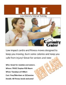 Low Impact Interval Training LIIT @ TRVCC Dayton