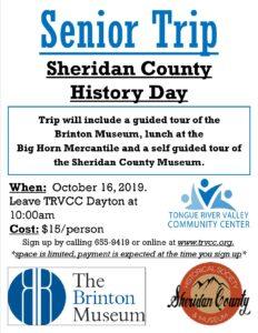Senior Trip - Sheridan County History @ TRVCC Dayton