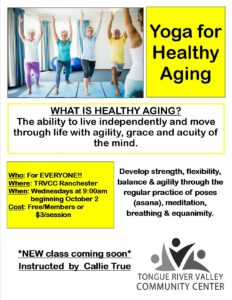 Yoga for Healthy Aging - New Class! @ Tongue River Valley Community Center - Ranchester