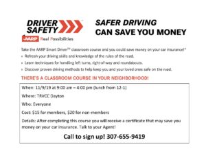 Drivers Safety Class @ TRVCC Dayton